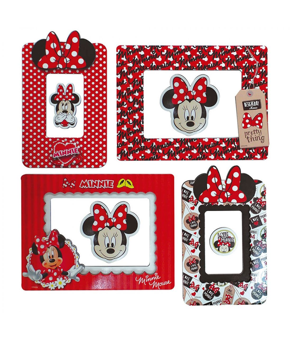 Porta Retrato Adesivo Minnie: Disney