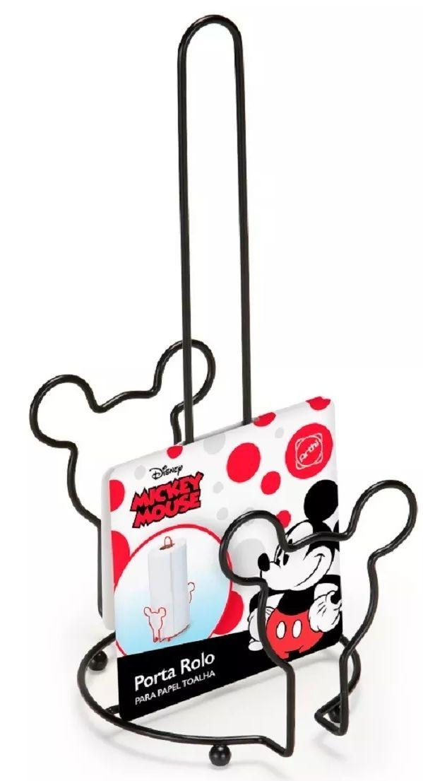 Porta Rolo de Papel Toalha Mickey Mouse: Disney (Preto)