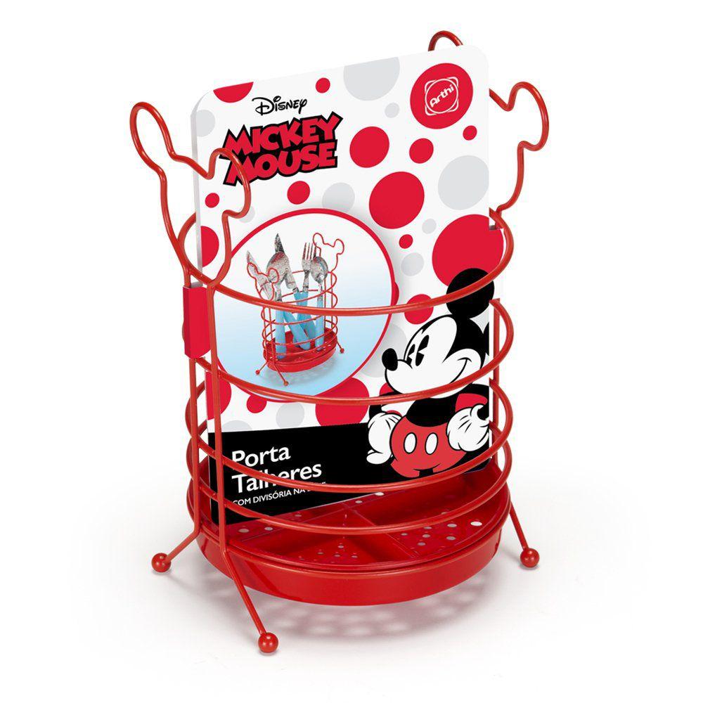 Porta Talheres Mickey Mouse: Disney (Vermelho)