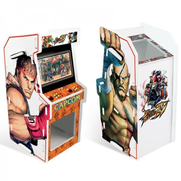 Porta Treco Arcade Ryu e Sagat: Street Fighter Branco