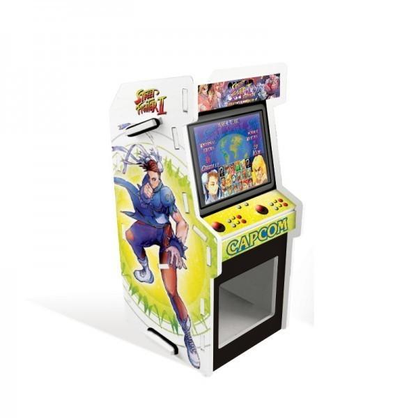 Porta Treco Arcade Chun-Li e Sagat: Street Fighter II Branco