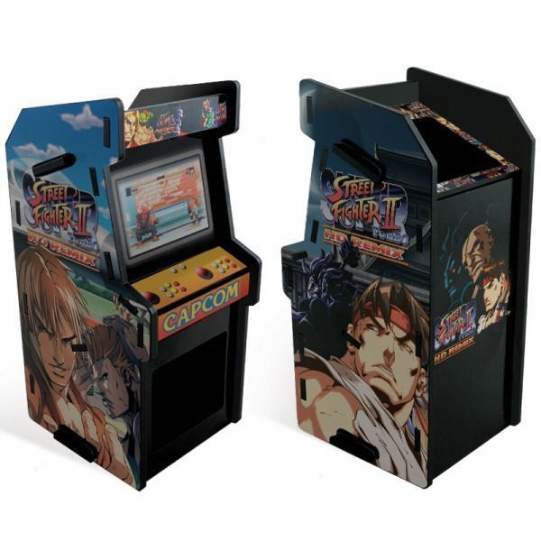 Porta Treco Arcade Ken e Ryu: Street Fighter II Preto