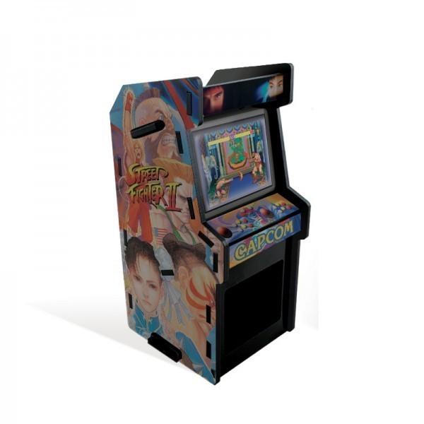 Porta Treco Arcade Ryu e Chun-Li: Street Fighter II Preto