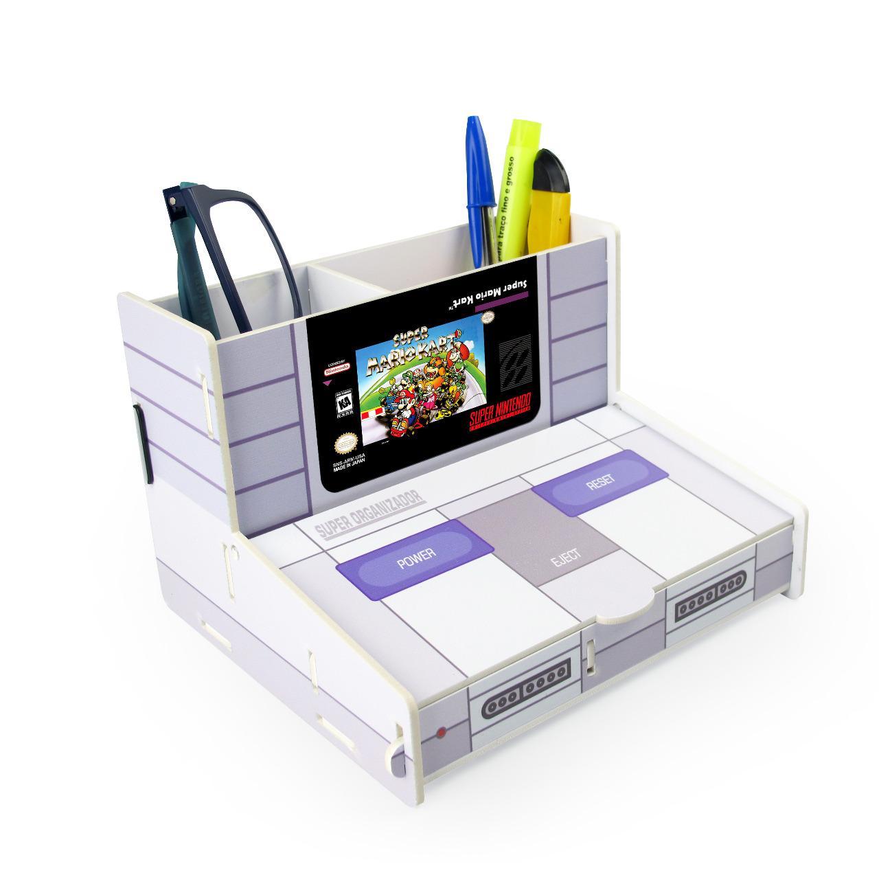 Porta Treco (Organizador de Escritório) Super Mario Kart - Nintendo