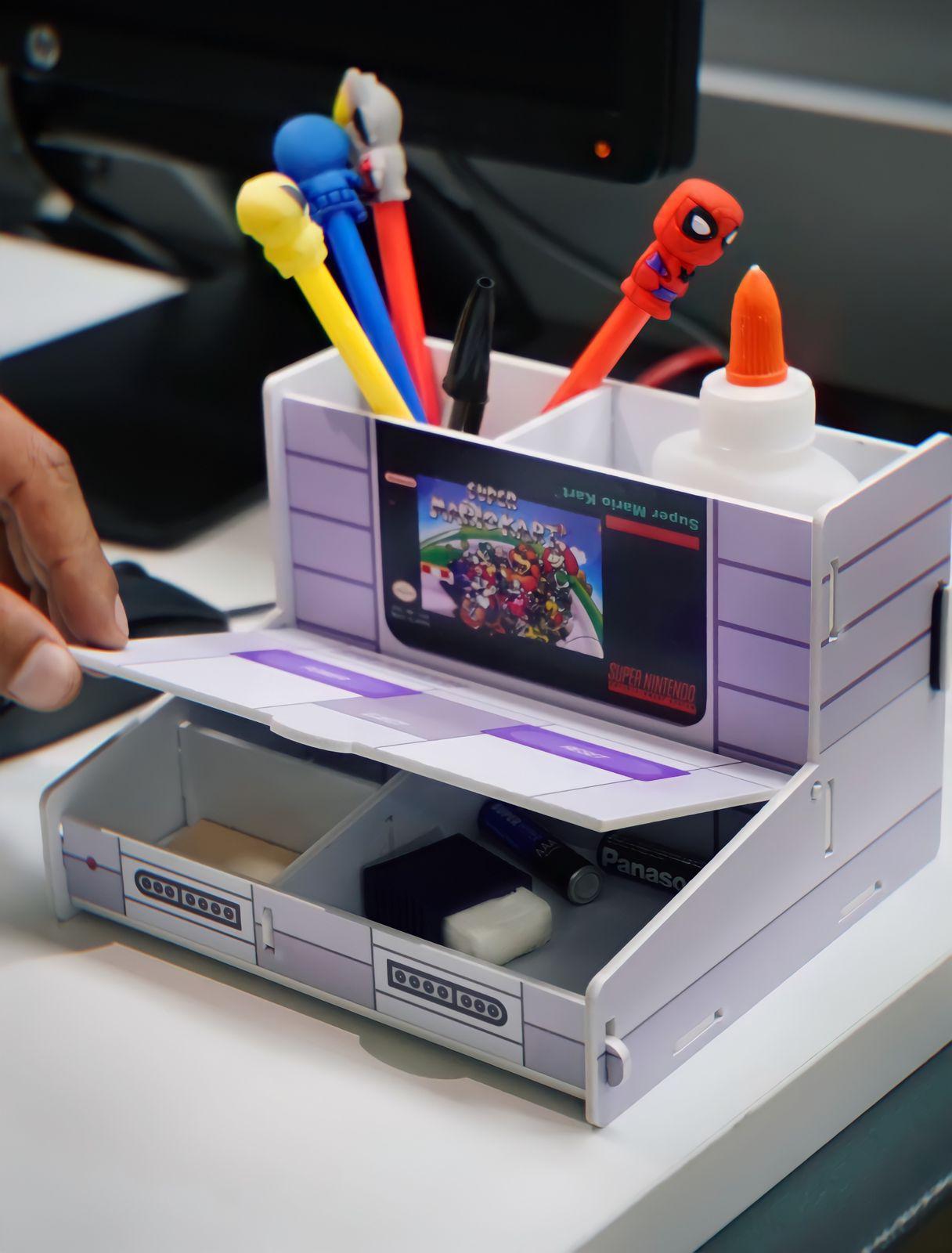 Porta Treco (Organizador de Escritório) Super Mario Kart - Nintendo - EV