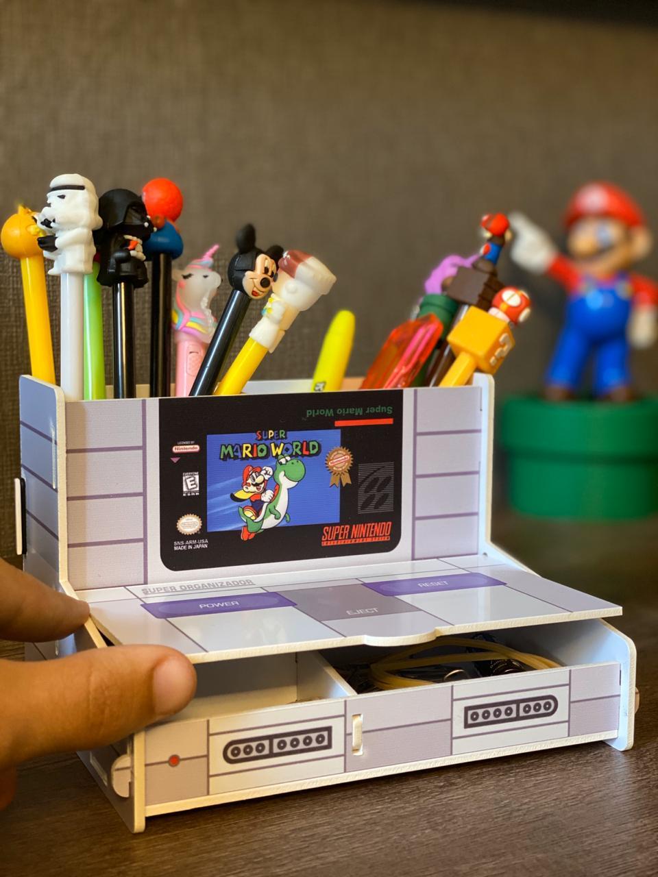 Porta Treco (Organizador de Escritório) Super Mario World: Nintendo