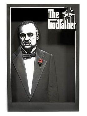Poster 3D O Poderoso Chefão (The Godfather): Movie Maniacs - Mcfarlane - CG