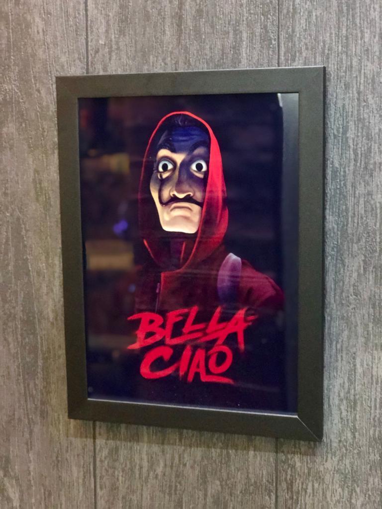 Pôster com Moldura Bella Ciao - La Casa de Papel - EV