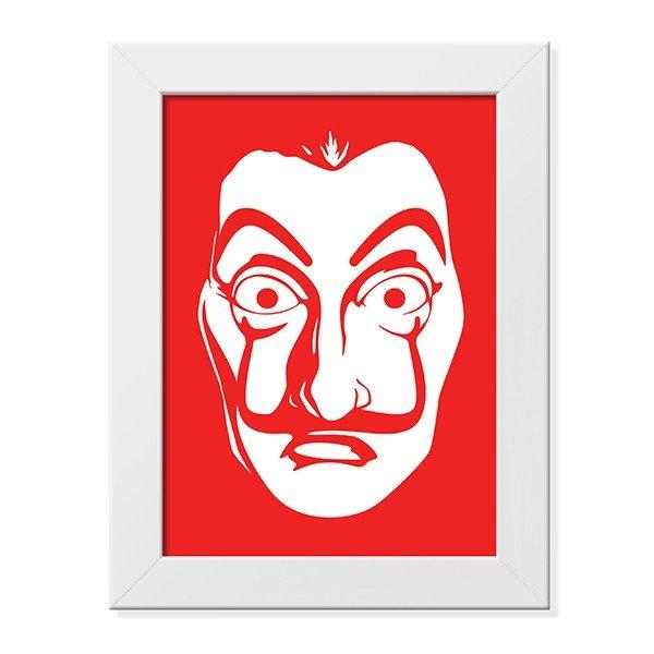 Poster Com Moldura La Máscara - La Casa de Papel