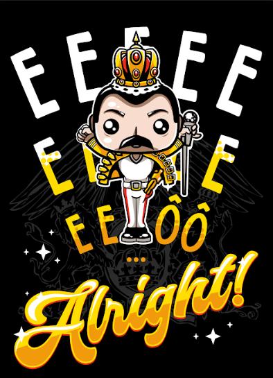 Pôster Freddie Mercury (Wembley): Queen (Sem Moldura)