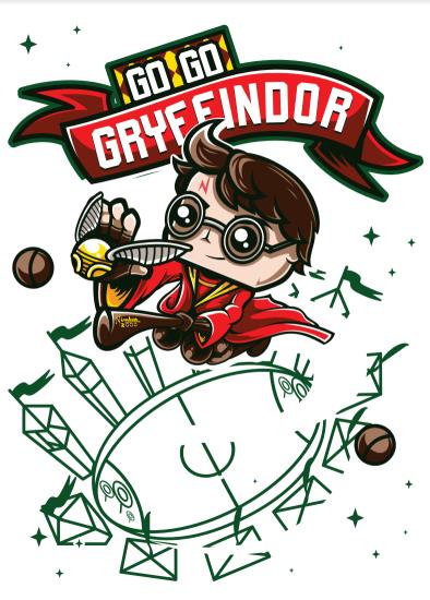 Pôster Go Go Gryffindor: Harry Potter (Sem Moldura)