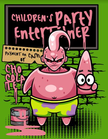 Pôster Majin Boo (Children's Party Enterteiner): Dragon Ball Z (Sem Moldura)