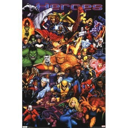 Poster Marvel Heroes Diptych