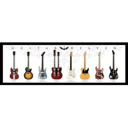 Poster Moldurado Guitar Heaven 2