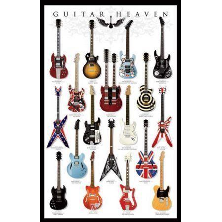 Poster Moldurado Guitar Heaven
