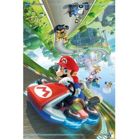 Poster Moldurado Super Mario Kart