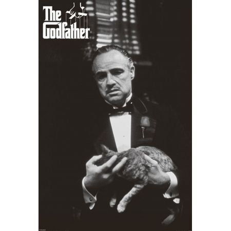 Poster Moldurado The Godfather Black & White
