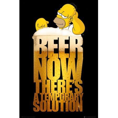 Poster Moldurado The Simpsons Beer