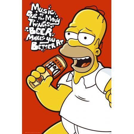 Poster Moldurado The Simpsons Duff
