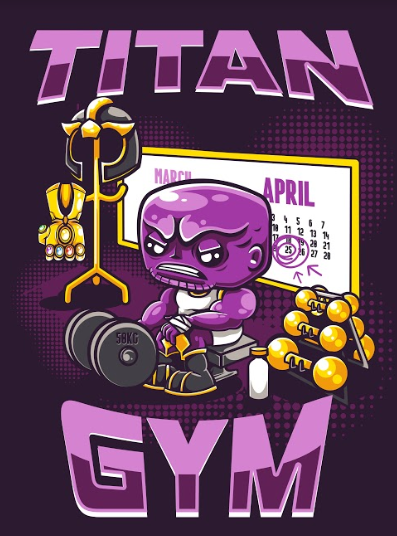 Pôster Thanos (Titan Gym): Vingadores Guerra Infinita (Sem Moldura)
