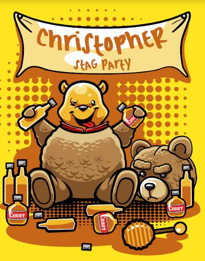 Pôster Ursinho Pooh (Christopher Stag Party): Disney (Sem Moldura)