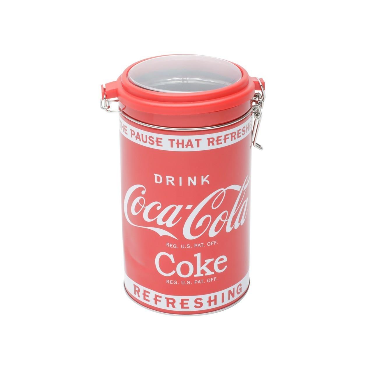 Pote de Biscoito Clip (Com Vidro) Redondo ''Refreshing'': Coca Cola - Urban