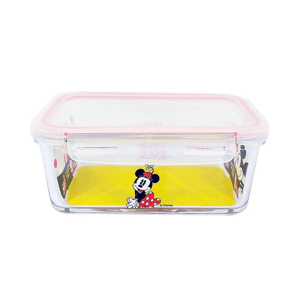 Pote de Vidro Com Tampa e Trava (1050ml): Its All About Minnie- Disney