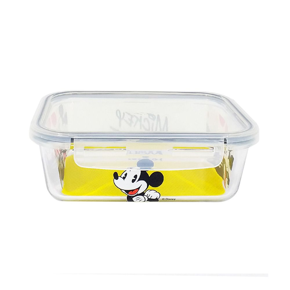 Pote de Vidro Com Tampa e Trava (1050ml): Mickey Mouse - Disney