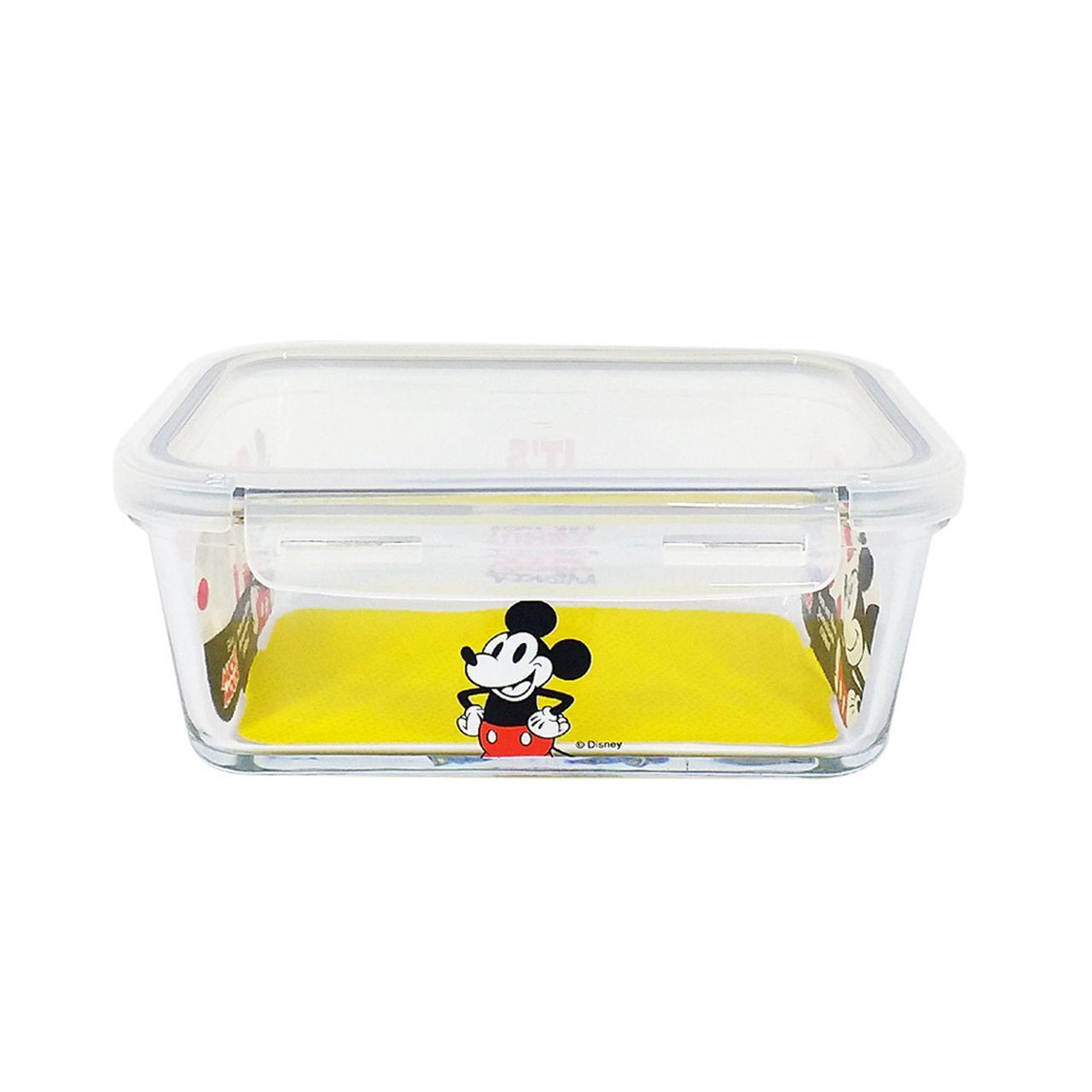 Pote de Vidro Com Tampa e Trava (1050ml): It's All About Mickey - Disney