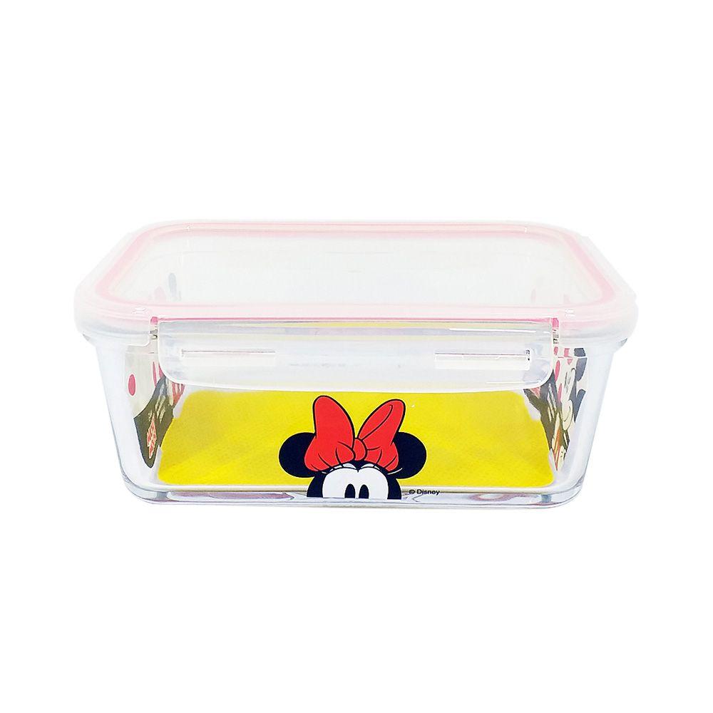 Pote de Vidro Com Tampa e Trava (1050ml): Minnie Mouse - Disney