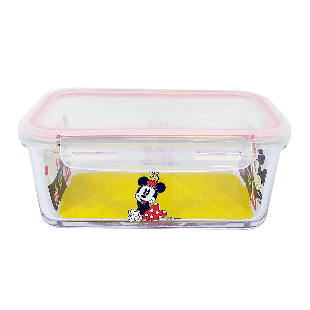Pote de Vidro Com Tampa e Trava (1500ml): It's All About Minnie - Disney