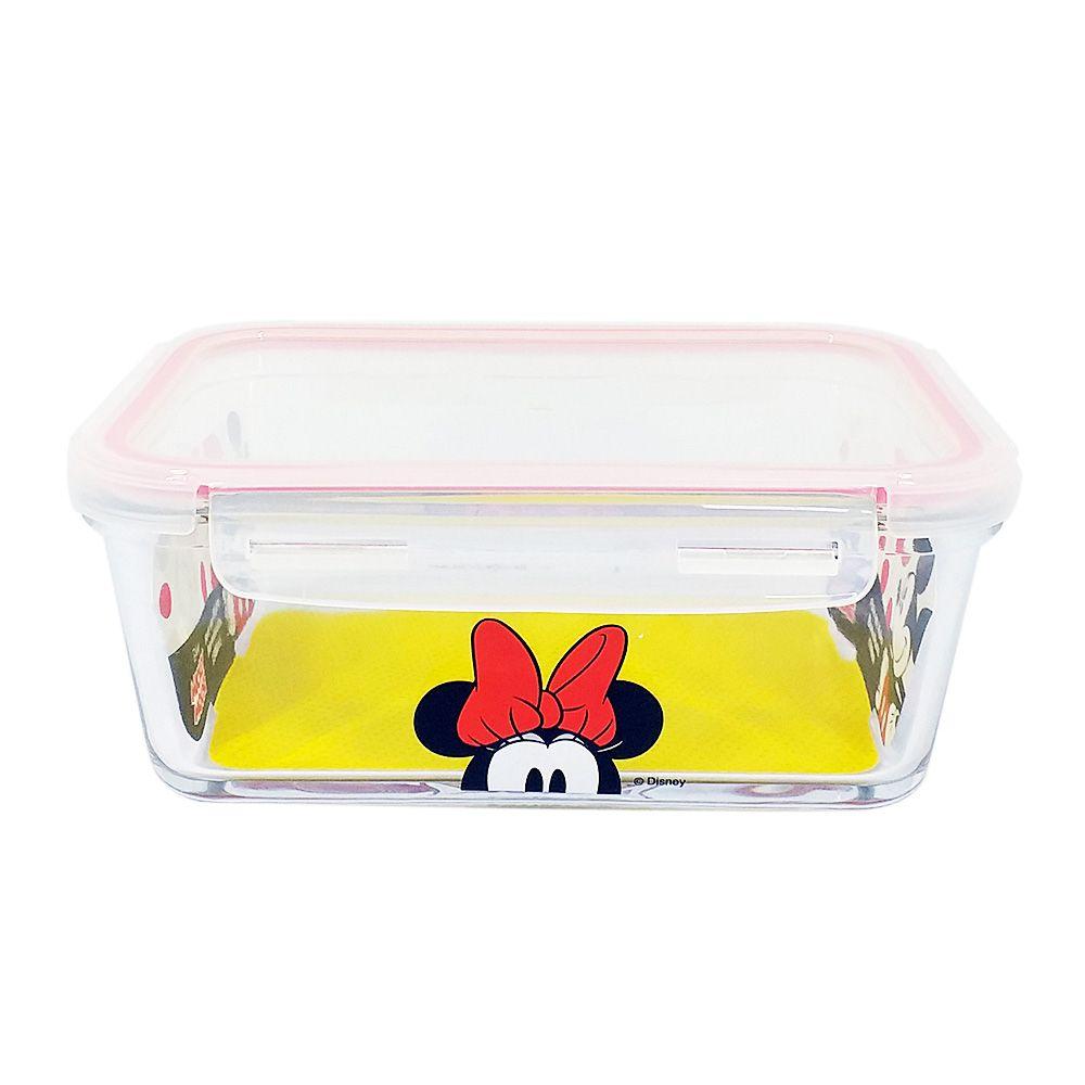 Pote de Vidro Com Tampa e Trava (1500ml): Minnie Mouse - Disney