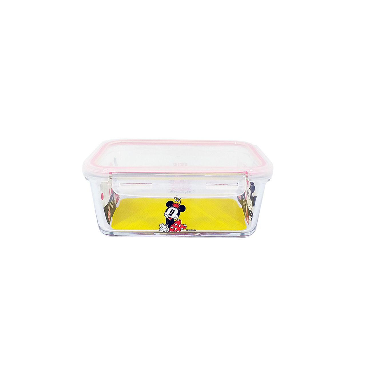 Pote de Vidro Com Tampa e Trava (400ml): Minnie Mouse - Disney