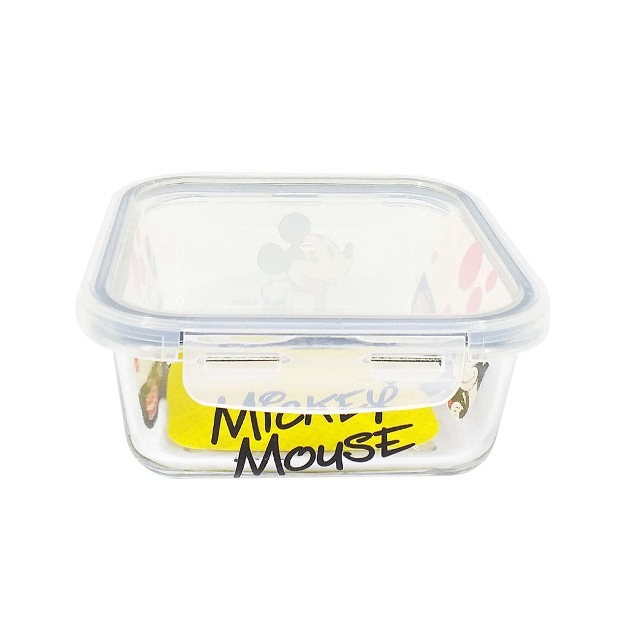Pote de Vidro Com Tampa e Trava (550ml): Mickey Mouse - Disney