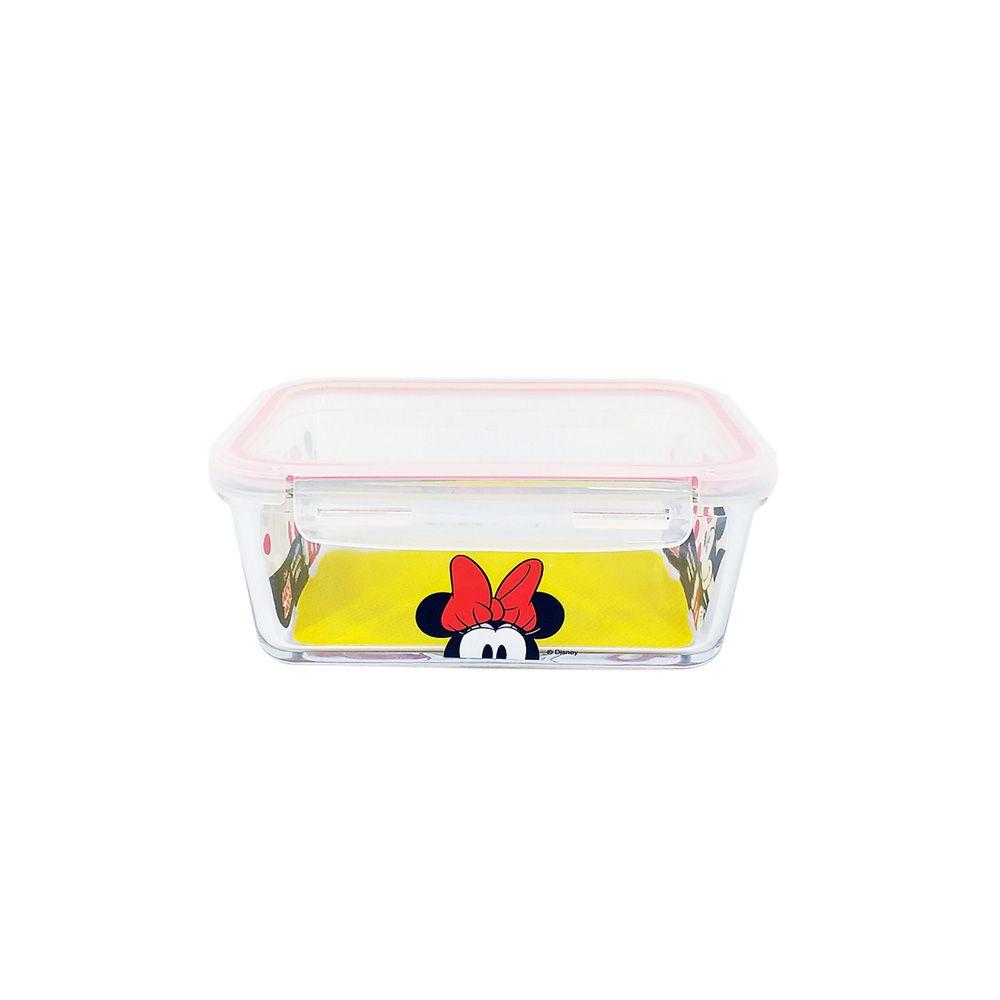 Pote de Vidro Com Tampa e Trava (590ml): Minnie Mouse - Disney