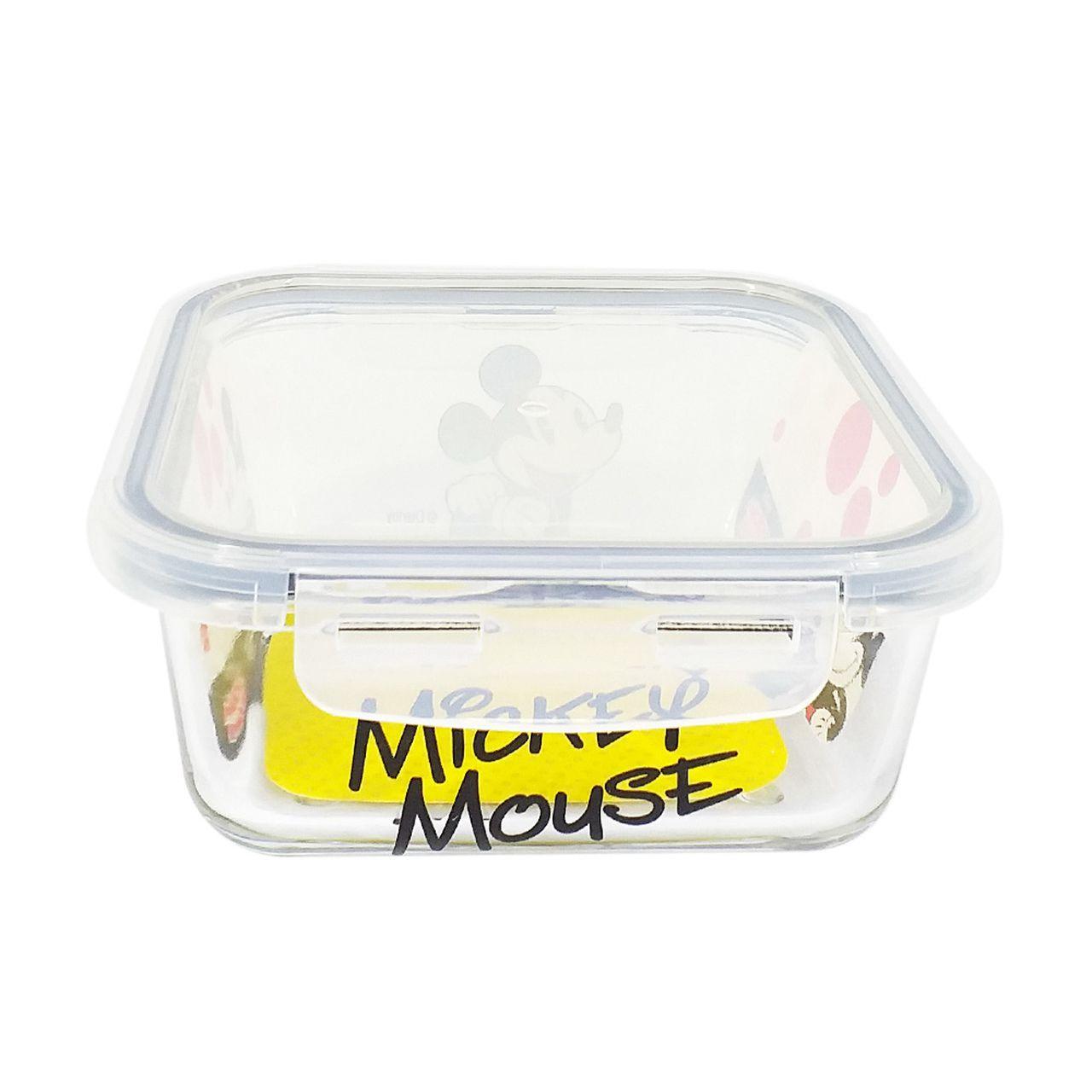 Pote de Vidro Com Tampa e Trava (760ml): Mickey Mouse - Disney