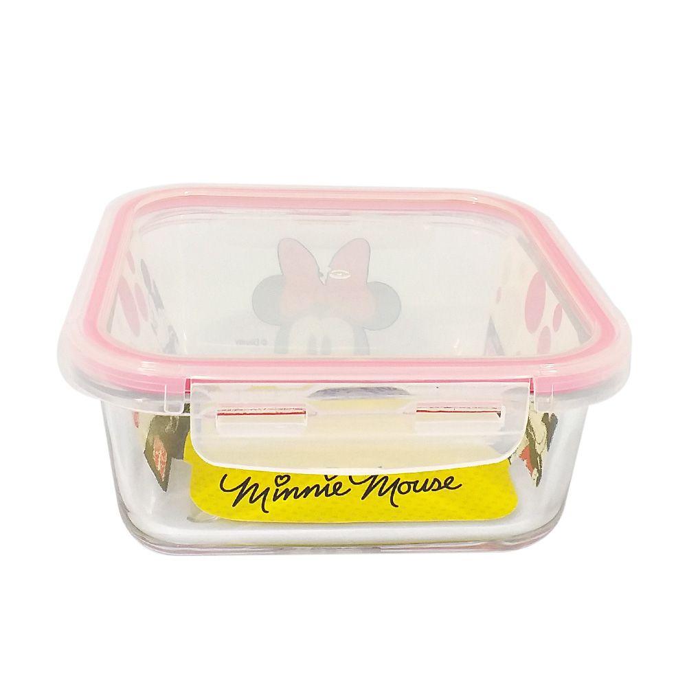 Pote de Vidro Com Tampa e Trava (760ml): Minnie Mouse - Disney
