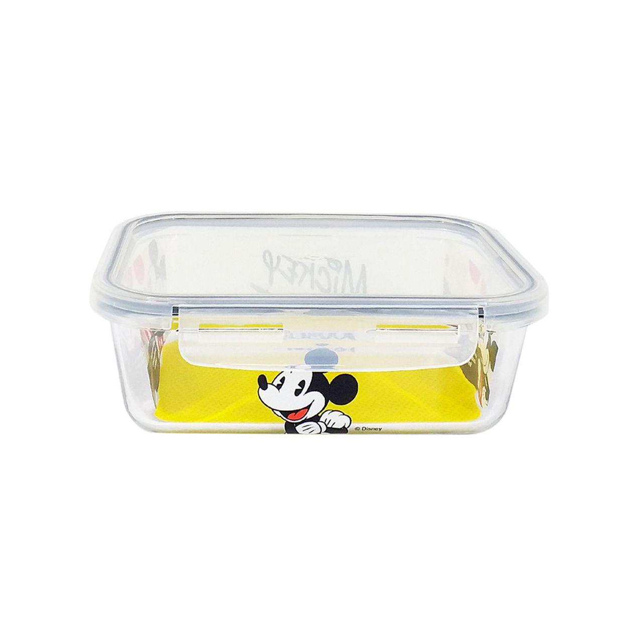 Pote de Vidro Com Tampa e Trava (800ml): Mickey Mouse - Disney
