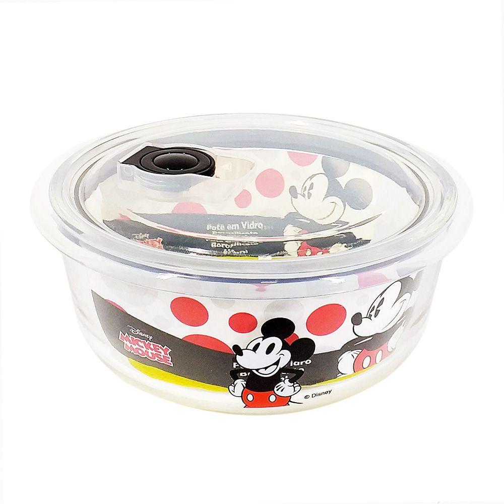 Pote de Vidro Com Tampa e Válvula (1200ml): It's All About Mickey - Disney
