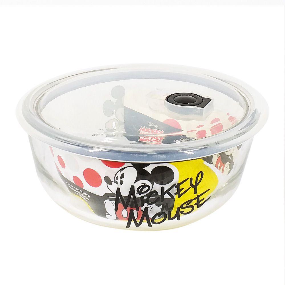 Pote de Vidro Com Tampa e Válvula (1200ml): Mickey Mouse - Disney