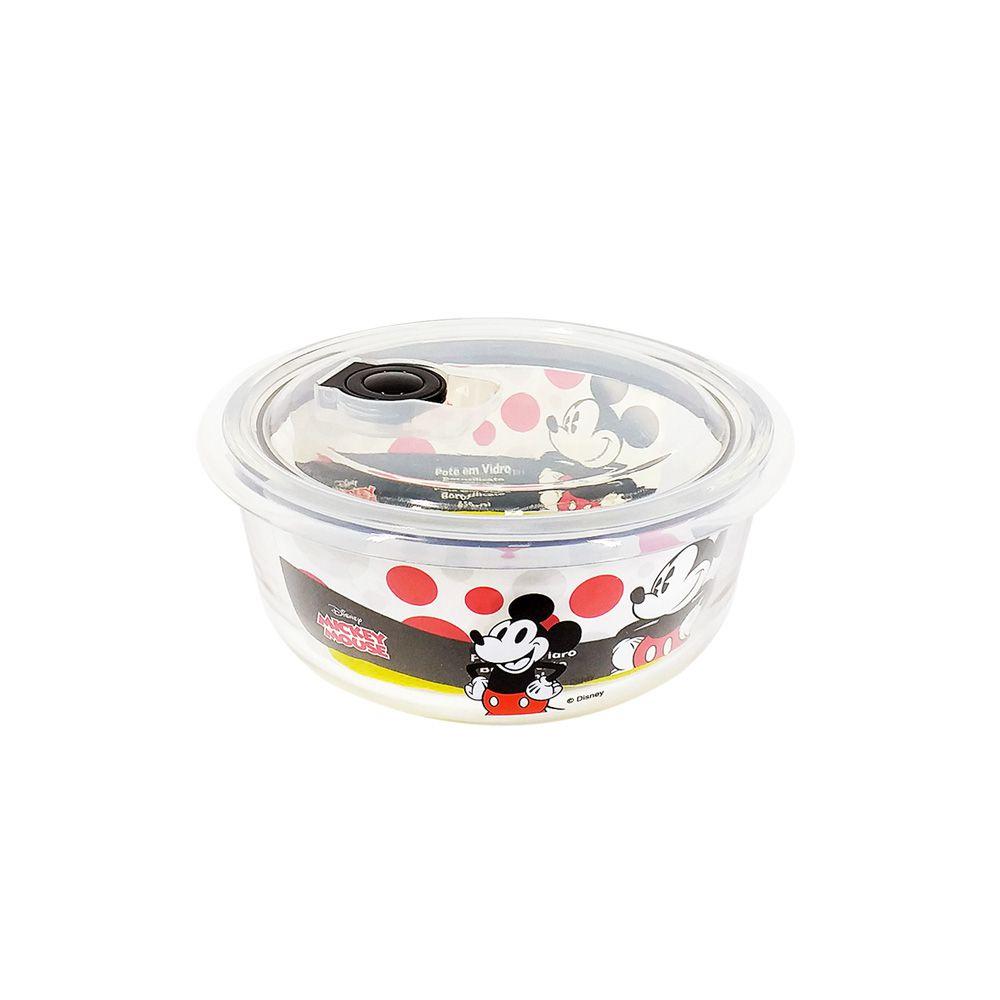 Pote de Vidro Com Tampa e Válvula (350ml): It's All About Mickey - Disney