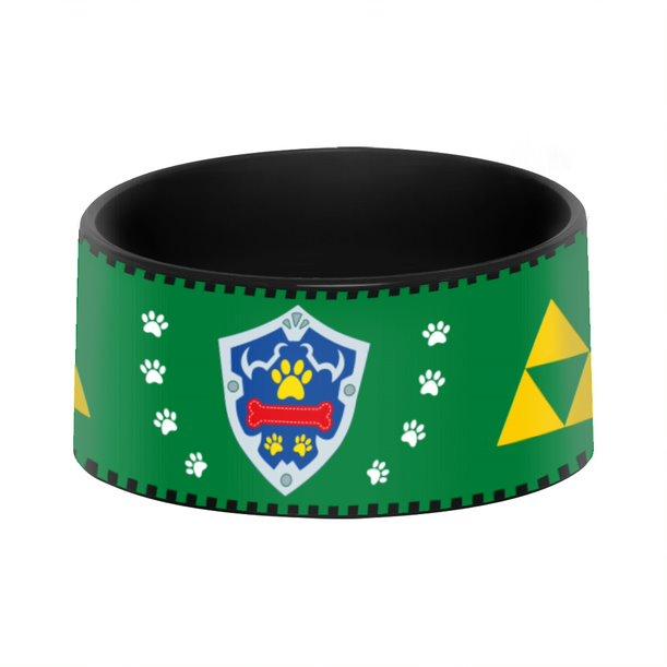 Pote Ração Comedouro Geek Pets Cachorro Gato Esculo Link Hylian: Zelda Nintendo - EV
