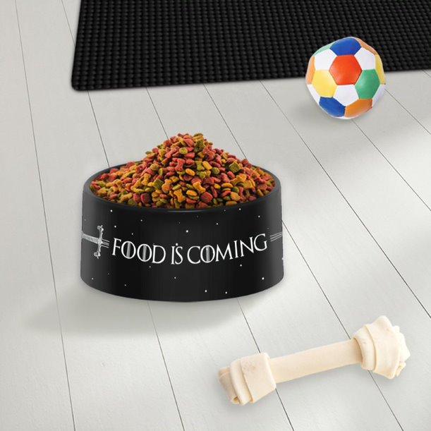 Pote Ração Comedouro Geek Pets Cachorro Gato Food Is Coming: Game Of Thrones HBO - EV