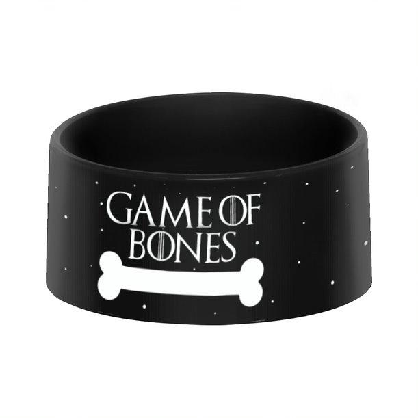 Pote Ração Comedouro Geek Pets Cachorro Gato Game Of Bones: Game Of Thrones HBO - EV