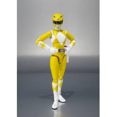 Power Rangers SHFiguarts Mighty Morphin Ranger Amarelo - Bandai