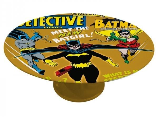 Prato de Bolo com Pé Porcelana DC Batgirl