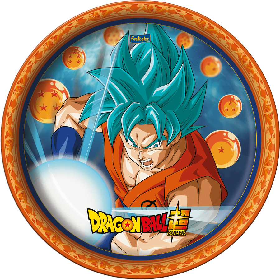 Prato de Papel: Dragon Ball - Festcolor