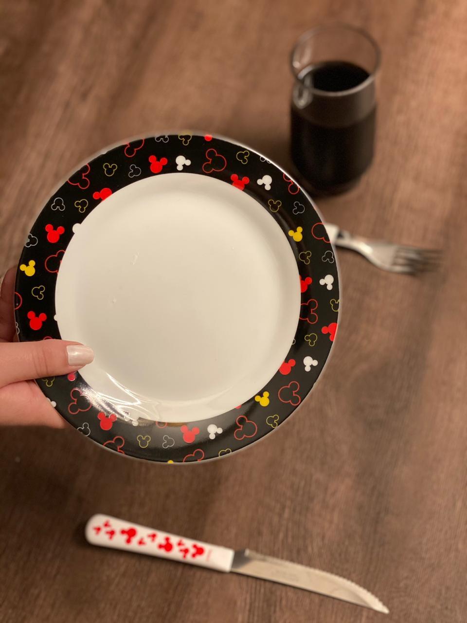 Prato de Sobremesa Mickey Mouse: Disney (Preto)