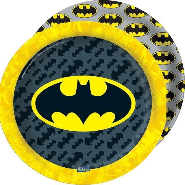 Prato Papel Batman Geek - Festcolor