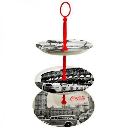 Prato para Doces Coca-Cola Porcelana Landscape World